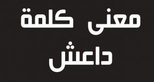 صورة ما معنى داعش