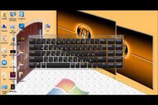 صورة لوحة مفاتيح انجليزية على الشاشة